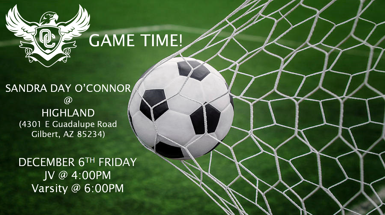 COME OUT AND SUPPORT YOUR O'CONNOR BOYS SOCCER TEAM!