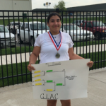 Sr. Rebecca Larios wins back to back GLAC Tennis Singles Title