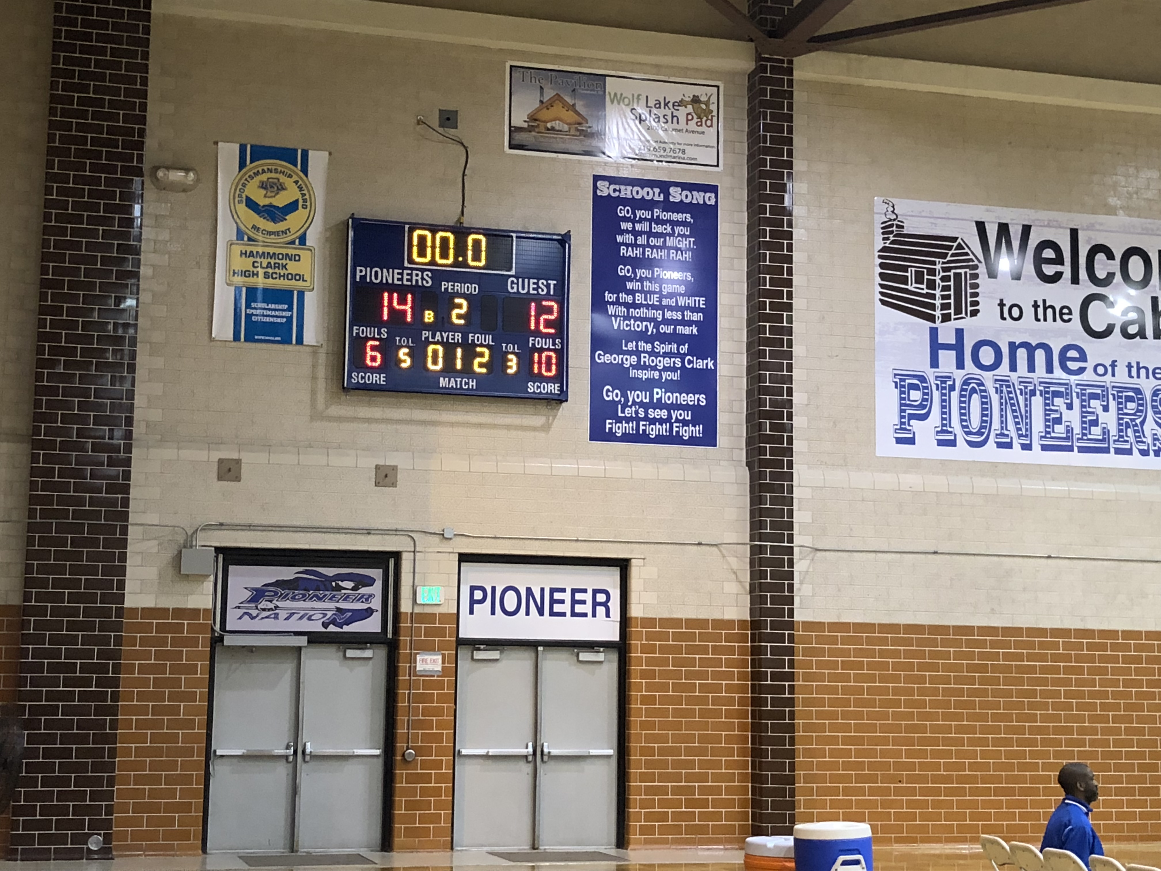 Lady Pioneers up 14-12 at the half