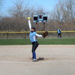 Girls Varsity Softball beats Marquette Catholic 4 – 3 game #1