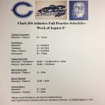 HS Fall Sports Practices Begin