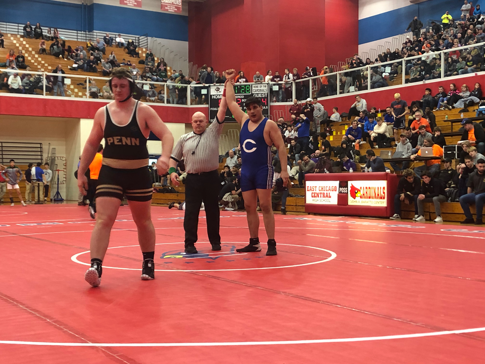 Andres Larios wins second match by pin