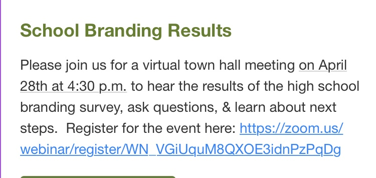 New Hammond School Branding Survey Results meeting today at 4:30 #WeWillLead #PioneerOn #NorthStarGRC #schk12 #15k