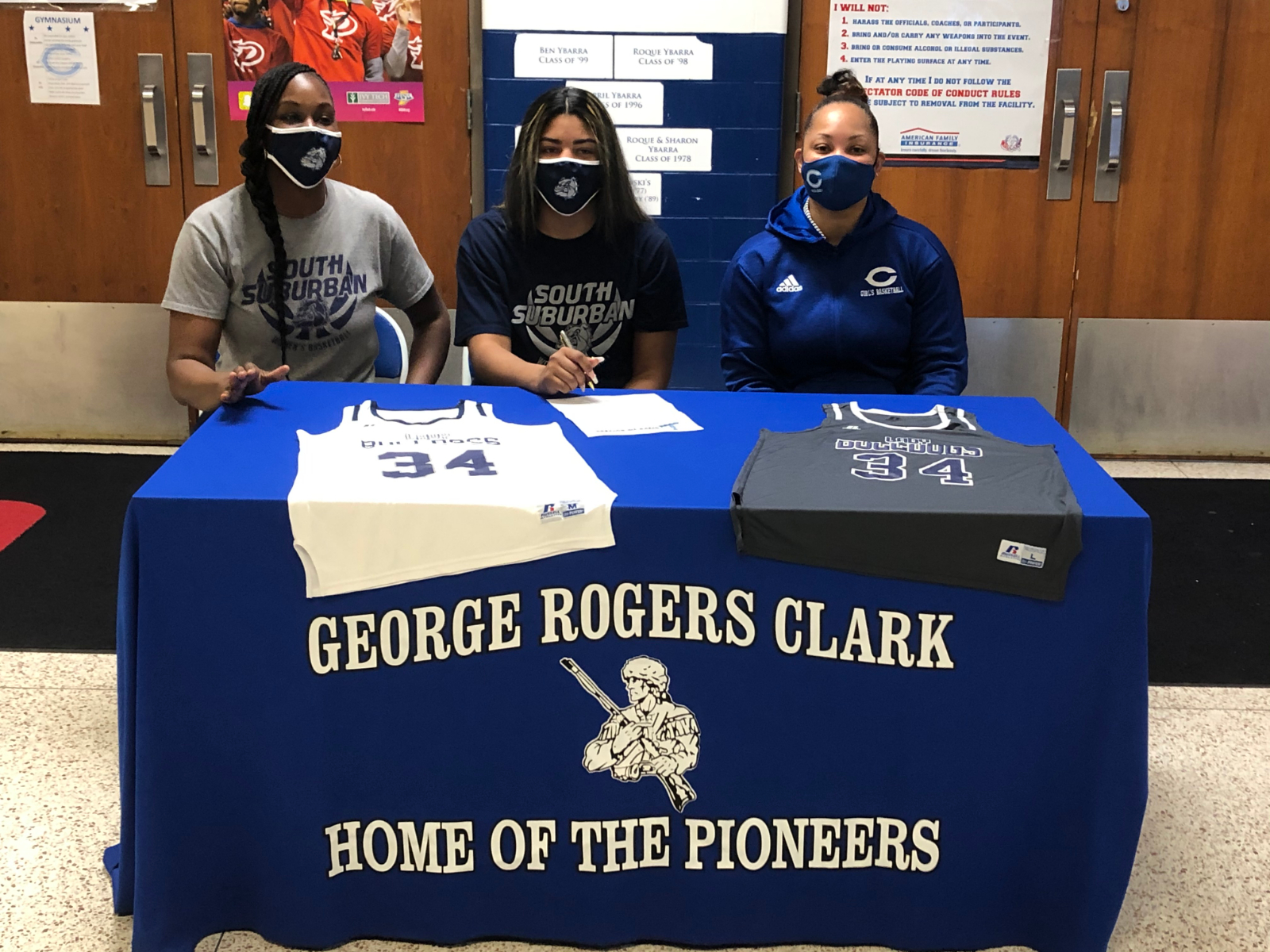 Congratulations to Sr. Destiny Johnson for signing with South Suburban to continue her basketball career #WeWillLead #PioneerOn #schk12 #schstrong