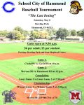 """Reminder: Baseball is at Dowling Park for the Hammond Classic – """"The Last Inning"""""""