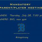 Parent/Player Meeting