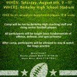 2016 Berkeley Rec League Skills Camp