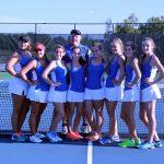 Berkeley High School Girls Varsity Tennis beat Manning High School 8-0