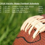 Stags Football Schedule Updated