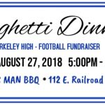 Spaghetti Dinner Tonight at Music Man BBQ 5:00PM-7:00PM!!