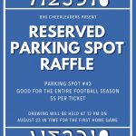 BHS Cheerleader Raffle For A Reserved Parking Spot!