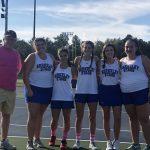 Lady Stags Tennis wins 5-1 on Senior Night