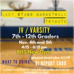 Lady Stag Basketball Tryouts!