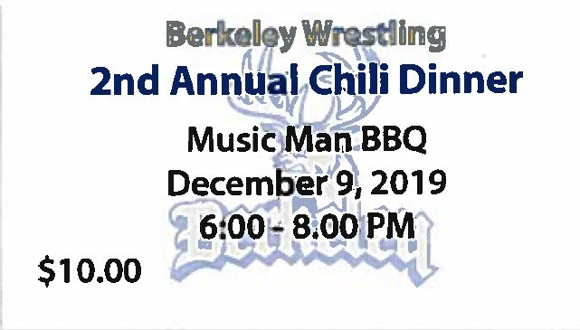 2nd Annual Wrestling Chili Dinner