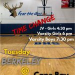 Basketball Game Time Change!
