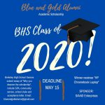 Blue and Gold Alumni Scholarship Opportunity