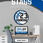 NEW STAG WALL DECALS ON SALE!!!