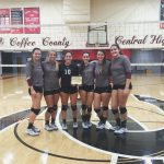 Eagleville High School Girls Varsity Volleyball beat Coffee County Play Day 7-0