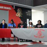 Lady Spartan track and field standouts sign with colleges