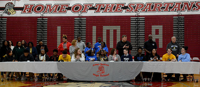 Student athletes sign to college careers