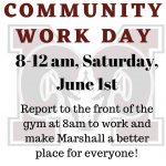 Marshall Community Work Day- June 1st