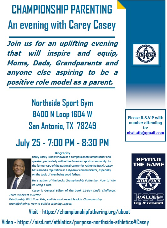 Championship Parenting Night July 25
