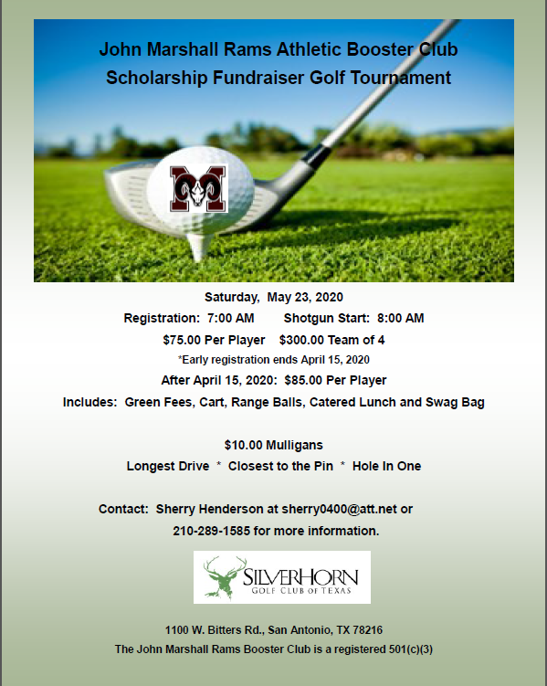 Athletic Booster Club Golf Tournament!
