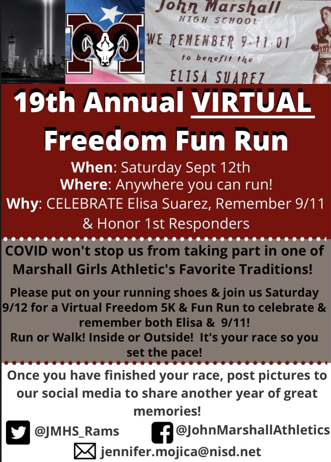 2020 VIRTUAL Freedom Fun Run & 5K