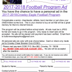 2017-2018 Football Program Ad