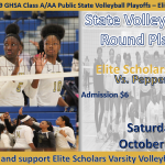 Elite Scholars to Host 3rd Round Volleyball State Play-Offs