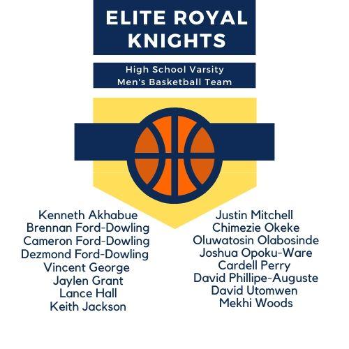 Announcing the 2019-2020 High School Varsity Men's Basketball Team!