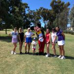 Ryder, Mickey Mouse and the Pointer Lady Golfers