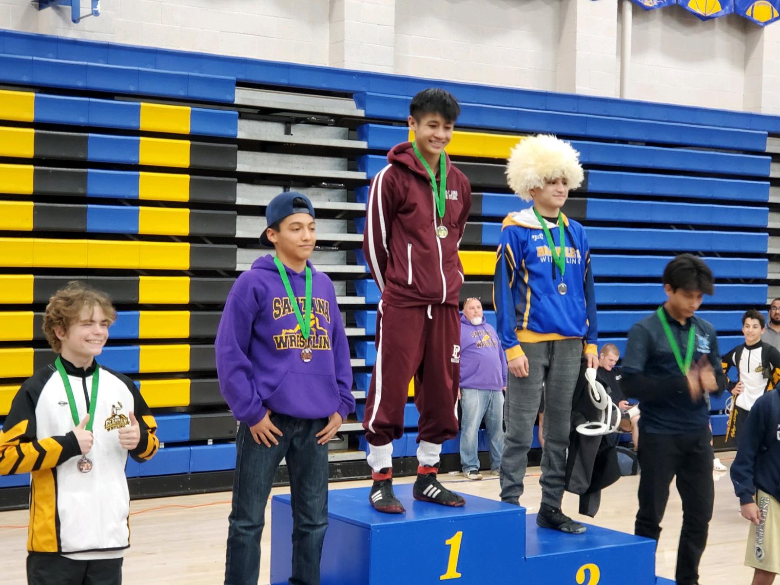 Wrestling CIF Champion and Podium Finishes!