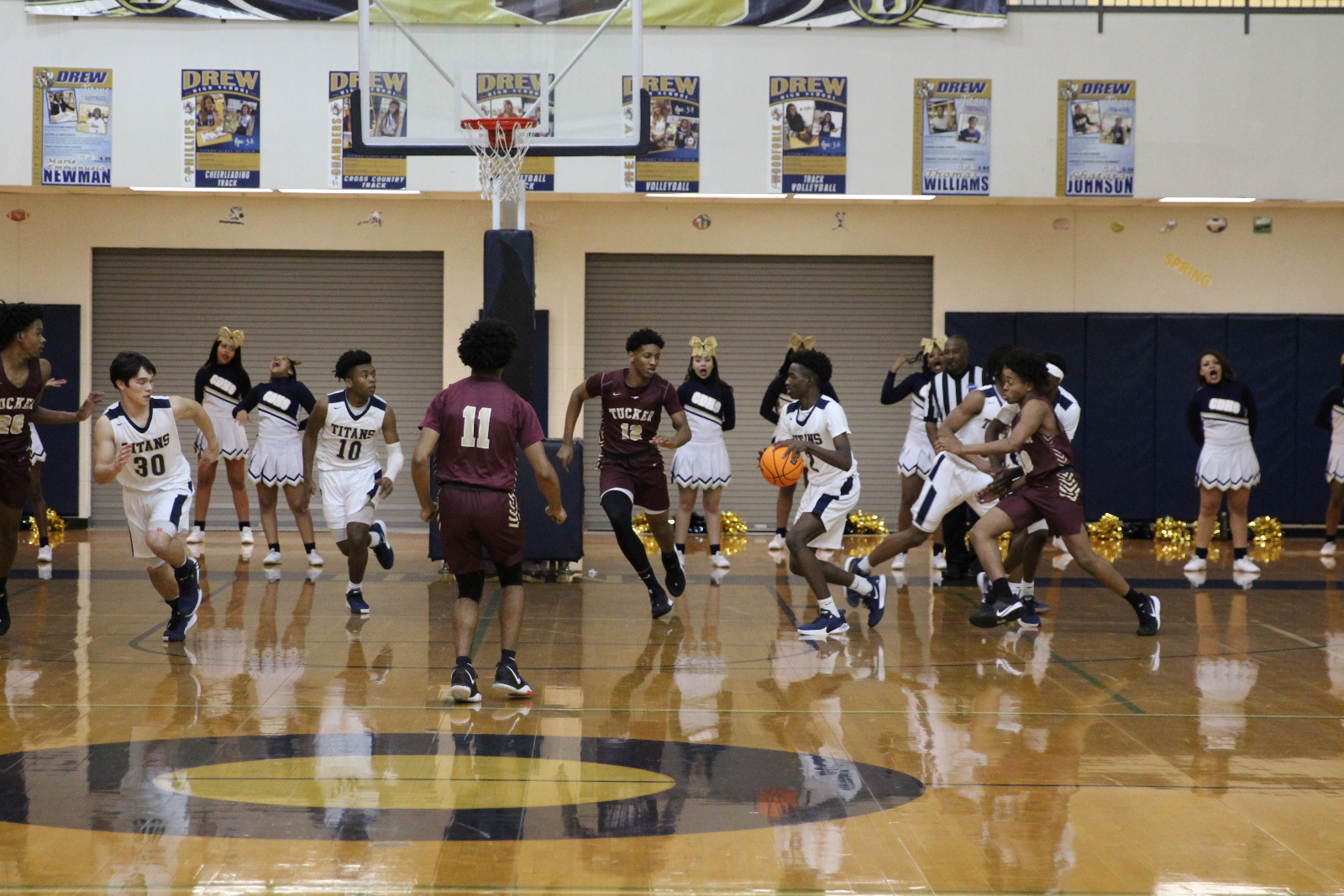 Men's Varsity Basketball Team vs Tucker – 01-17-2020 – Photo Album