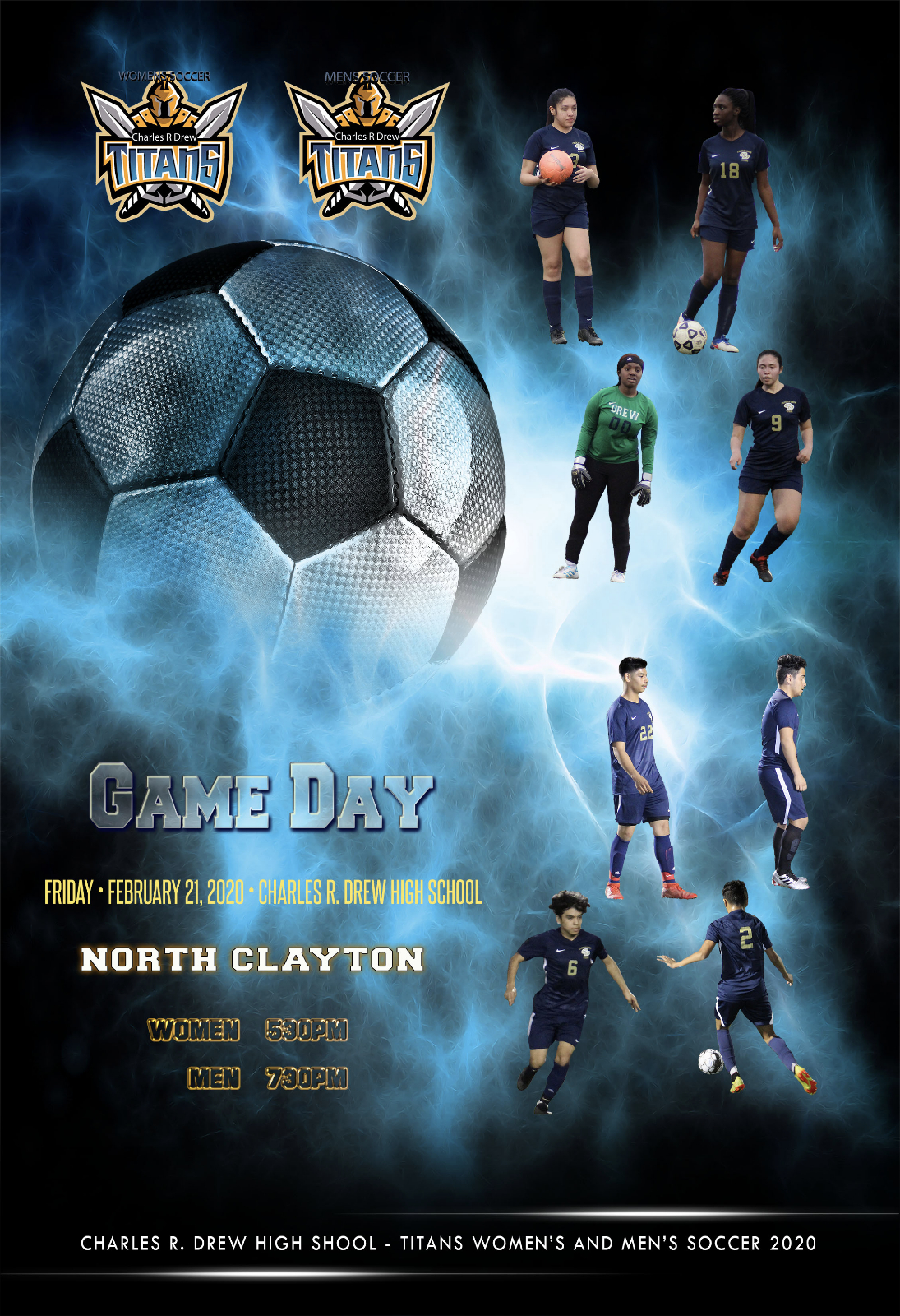 Gameday – Men's and Women's Soccer Teams Host North Clayton Tonight