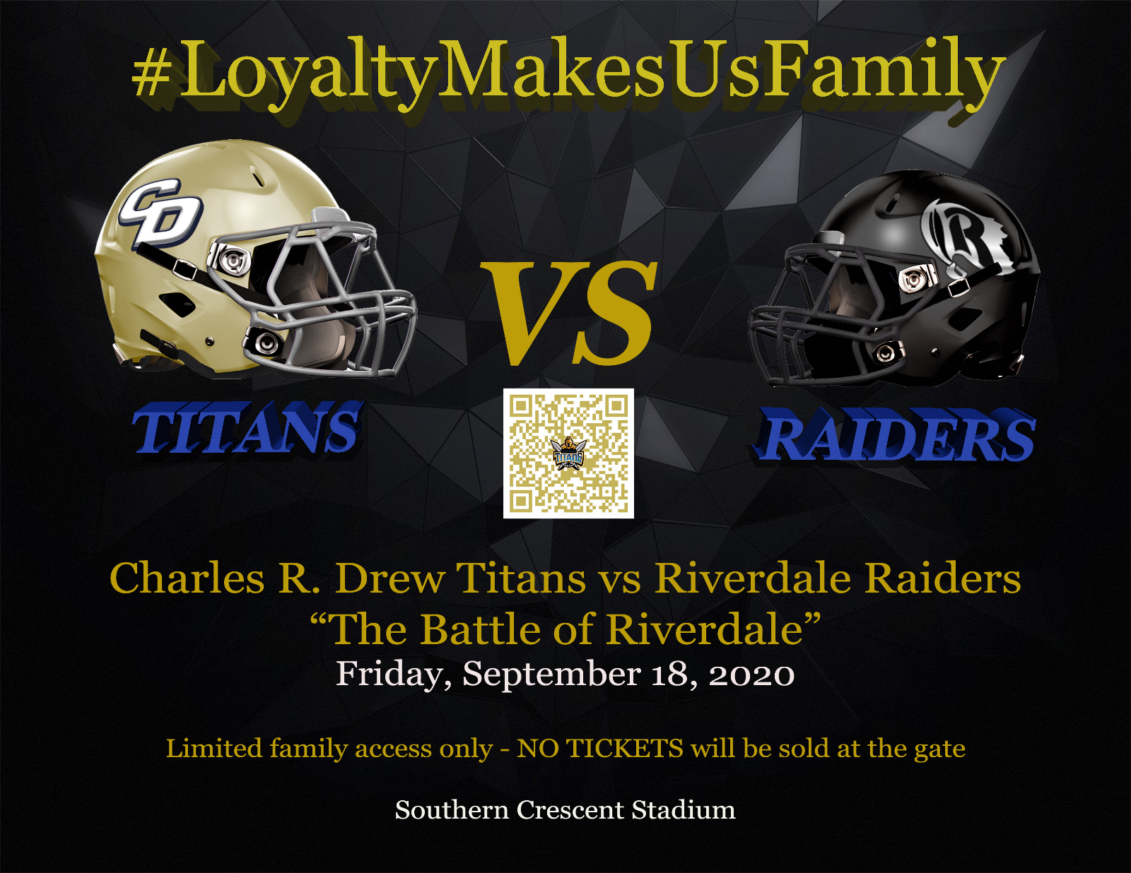 "Gameday – ""The Battle of Riverdale"" – Varsity Football Team taking on Riverdale today"