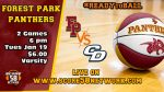 Varsity Basketball at Forest Park Tues. 1/19/21