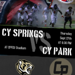 Football Takes on Cy Park