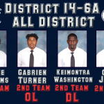 Four Panther Football Players Selected to All District Team