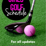 Girls Golf Schedule