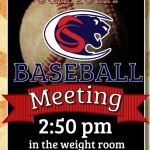 Baseball Meeting January 16th After School