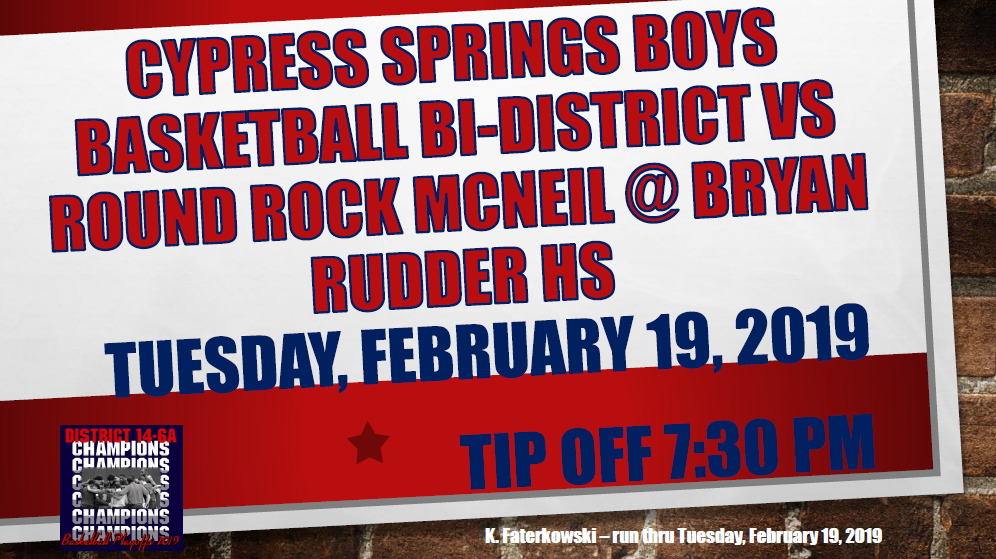 Basketball Bi-District Playoff Game