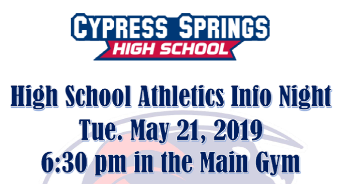 Info Meeting for Incoming Freshman Athletes!
