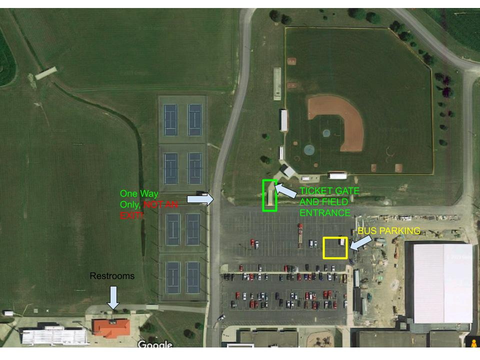 Campus Map for Baseball Sectionals