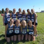 Girls Varsity Cross Country finishes 4th place at Monroe Central CC Invitational