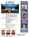 Adams Memorial Sports Performance Opportunities