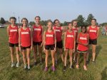 Girls Middle School Cross Country Finishes First
