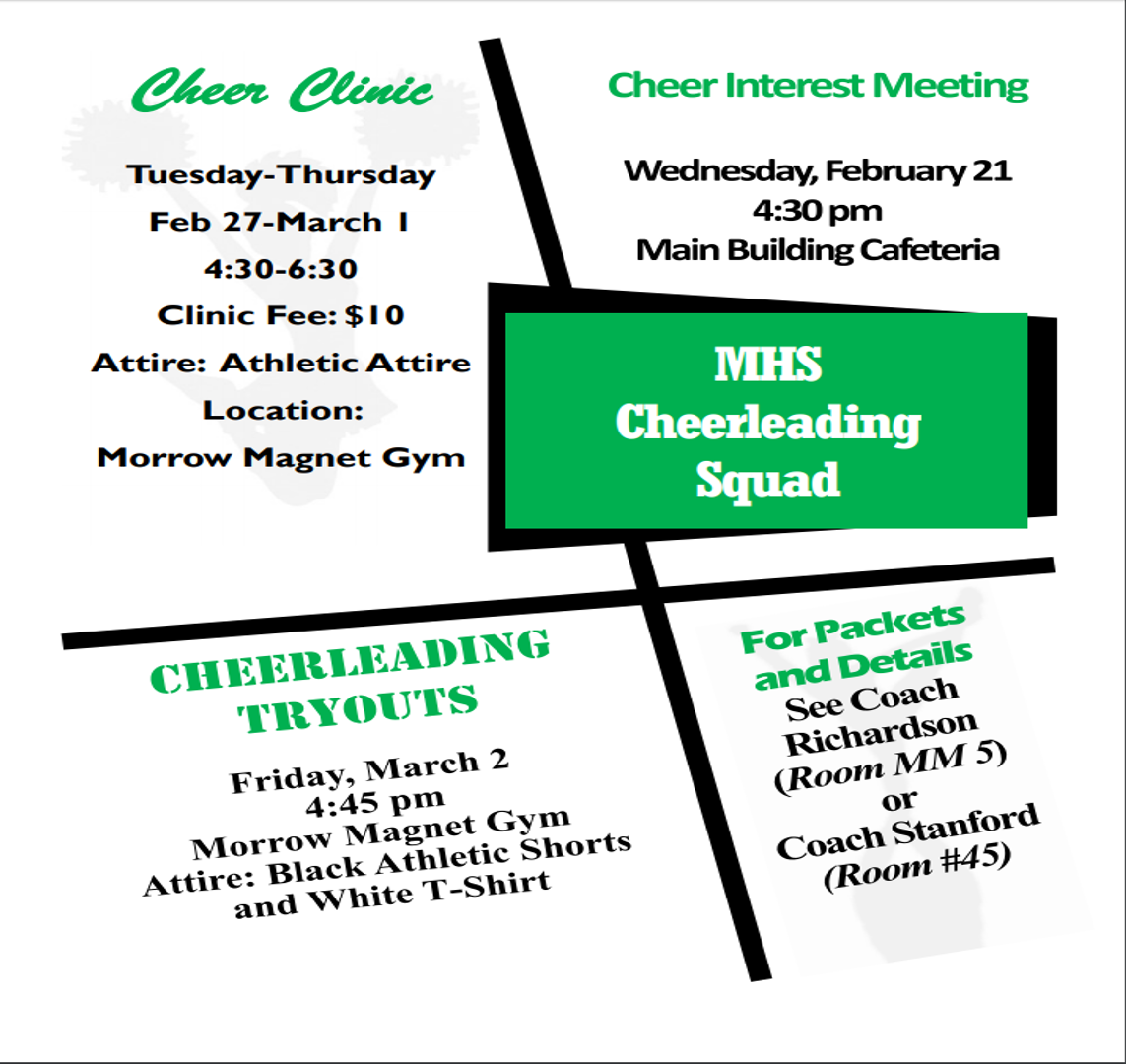 2018-2019 MHS Cheer Tryouts