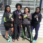 Girls' 4 X 100 Meter Relay Team Take 1st Place at Heritage Invitational