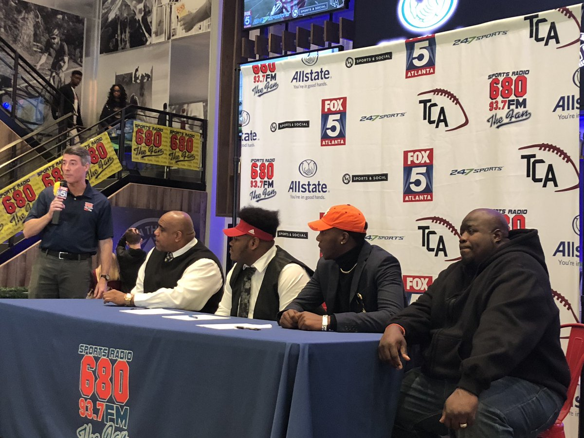 Riverdale players participate in football early signing event